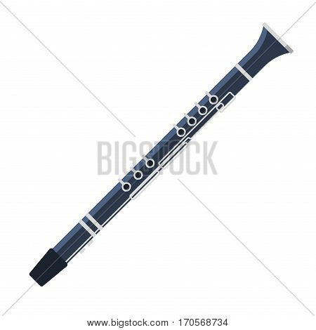 Tribal pipe music sound wind art melody blow woodwind traditional equipment vector. Indian bamboo instrument. Whistle hole vintage tube.