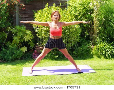 Lady Keeping Fit
