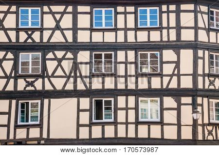 Old half-timbered houses.