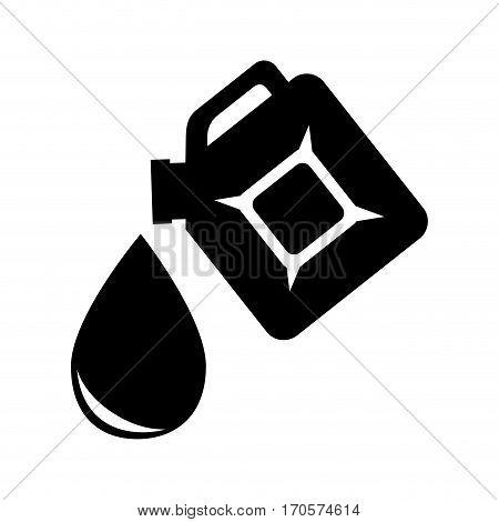 silhouette container plastic and petroleum drop vector illustration