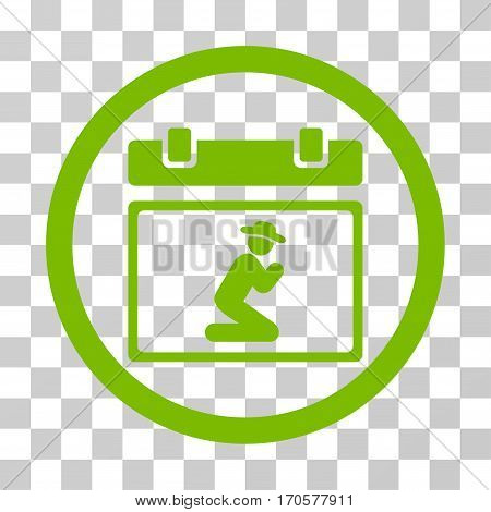 Pray Date rounded icon. Vector illustration style is a flat iconic symbol inside a circle eco green color transparent background. Designed for web and software interfaces.