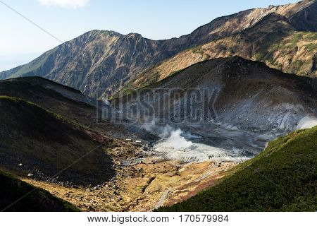 Hell in tateyama of Japan