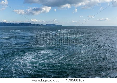 Naruto whirlpools in Tokushima of Japan
