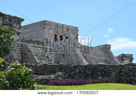 Tulum ancient ruins at Quintana Roo, México