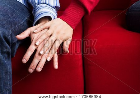 Ypung Couple arguing and having relationship problems.