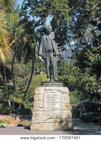 Statue Of Sir Cecil John Rhodes 1853 - 1902