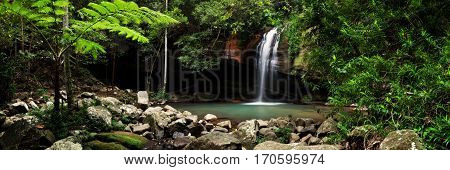 Buderim Falls, also known as Serenity Falls, is a popular destination for tourists and locals alike on the Sunshine Coast of Queensland, Australia.
