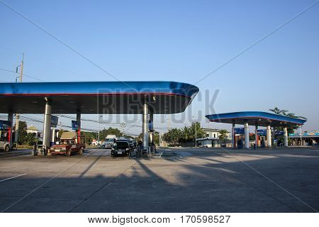 Ptt Oil Station. Location On Road No.11
