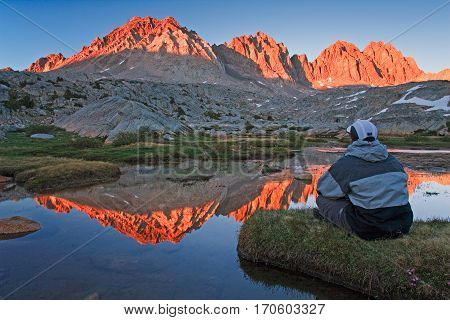 Dusy basin runs high in the Eastern sierras, california