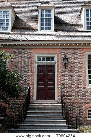 bricks red wine colors  classic  Williamsburg Virginia