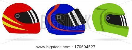 Motorcycle helmet, helmet icon motorcyclist. Flat design, vector illustration, vector.