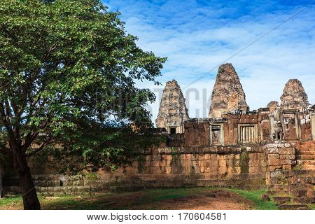 ruins of the East Mebon temple, Angkor area, Siem Reap, Cambodia.