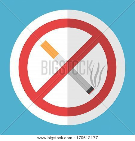 Cigarette, No Smoking Sign