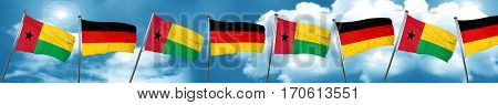 Guinea bissau flag with Germany flag, 3D rendering
