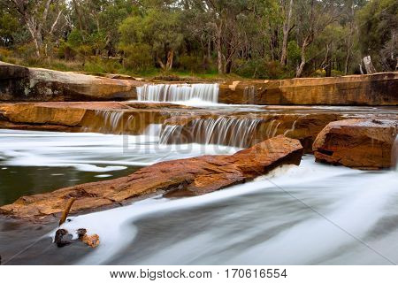 Noble Falls is found in Gidgegannup, a town in the hills on the outskirts of Perth, Western Australia.