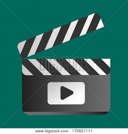 Clapper board vector illustration. Movie action black camera clap. Cinematography hollywood production director wooden shot blank equipment.