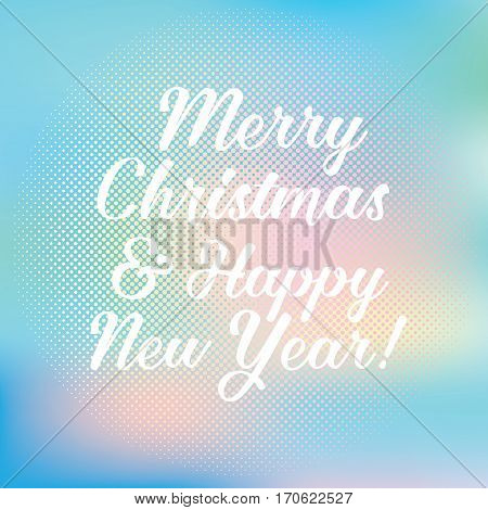 neutral card with inscription happy new year and merry Christmas