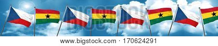 czechoslovakia flag with Ghana flag, 3D rendering