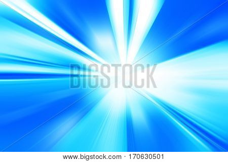 Abstract blurred speed motion with light rays in tunnel.