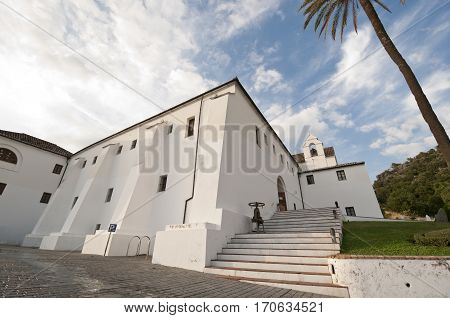 The Capuchinos Convent, Ubrique, Cadiz, 17th century. Actually is the Ubrique Leather Museum. This village is part of the pueblos blancos (white towns) in southern Spain, Andalusia region, and reminds the Arab past