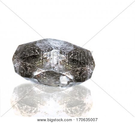 crystal of Diamond; isolated on the white