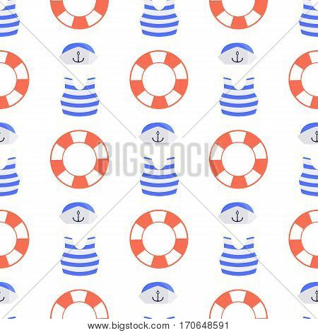 form of sea and life buoy. children s illustration. used for printing, the website, smart phone, design, textiles, ceramics, fabrics, prints postcards packaging etc