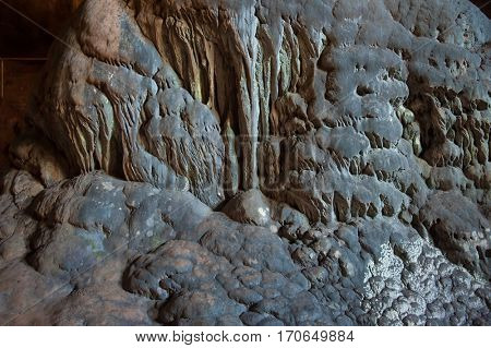 cave inside. stalagmite background