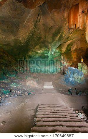 huge cave inside
