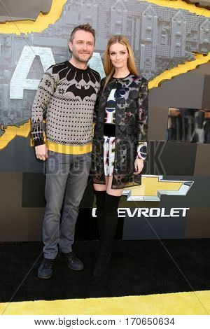 LOS ANGELES - FEB 4:  Chris Hardwick, Lydia Hearst at the