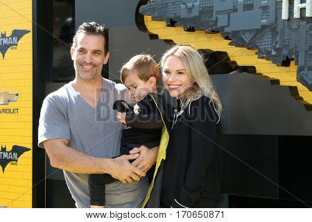 LOS ANGELES - FEB 4:  Johnathon Schaech, son, Julie Solomon at the