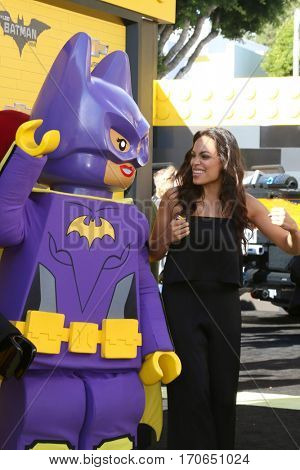 LOS ANGELES - FEB 4:  Lego Batgirl, Rosario Dawson at the