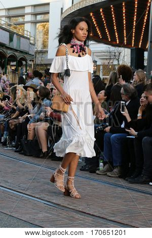 LOS ANGELES - FEB 4:  Models walk the