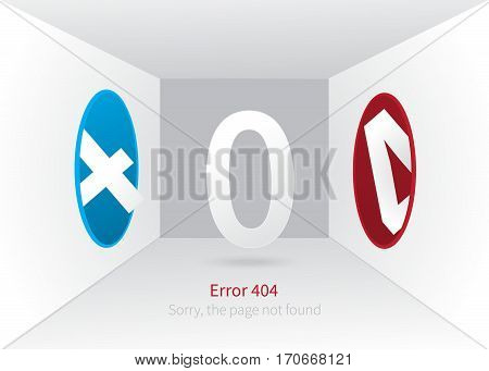 Error 404 page layout design. portal, which disappears page. web page creative concept and message Sorry, the page not found. Creative vector illustration.