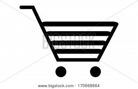 Pictogram - Trolley, Cart, Shopping cart, Shopping trolley icon