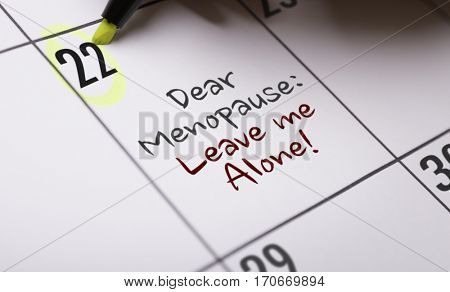 Dear Menopause: Leave Me Alone