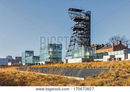 KATOWICE, POLAND - JANUARY 1, 2017: The former coal mine
