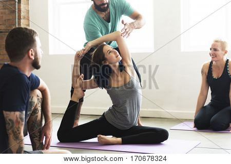 Yoga Practice Exercise Class Concept