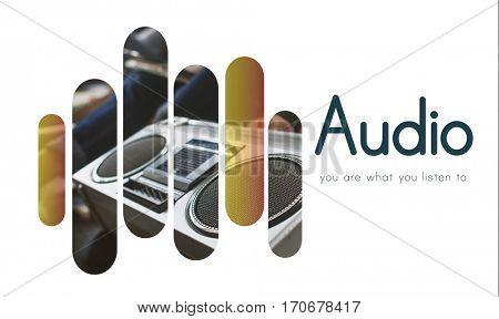 Audio Music Vinyl DJ Set Graphics