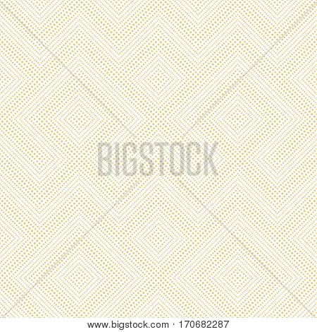 Vector seamless pattern. Abstract small dotted textured background. Modern stylish texture. Regularly repeating stylish geometrical tiles with dots dotted zigzags. Original maze