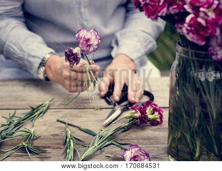 Hobby Lady Mature Leisure Flower