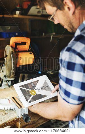 Maintenance Repair Remedy Service Restoration Concept poster