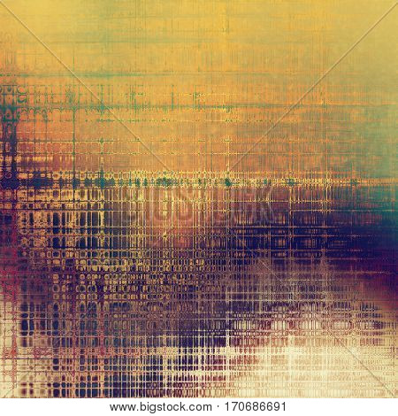 Distressed texture, faded grunge background or backdrop. With different color patterns: yellow (beige); brown; green; purple (violet); red (orange); pink