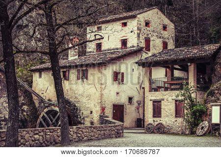 Molinetto della Croda old mill in Italy medieval Europe landmark