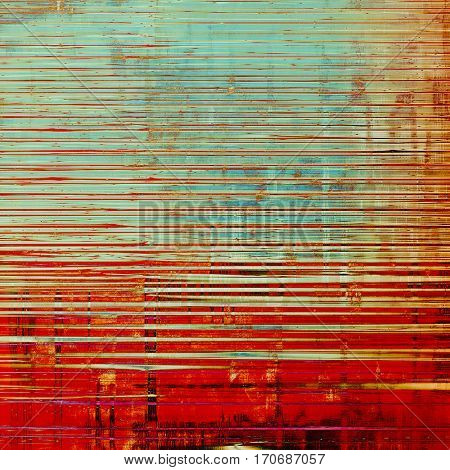 Grunge colorful texture, aged weathered background with different color patterns: yellow (beige); brown; blue; red (orange); pink; cyan