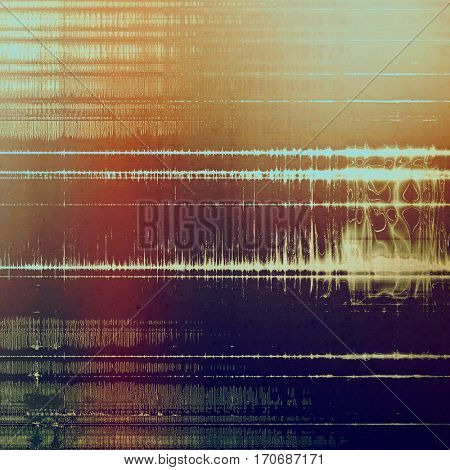 Grunge stained texture, distressed background with space for text or image. With different color patterns: yellow (beige); brown; gray; red (orange); purple (violet); cyan
