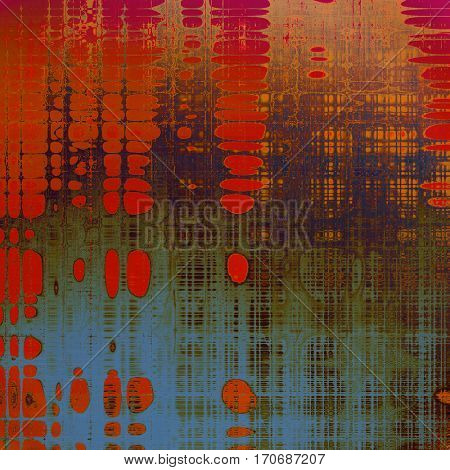 Art grunge texture for creative design or scrap-book. With vintage style decor and different color patterns: yellow (beige); brown; green; gray; blue; red (orange)