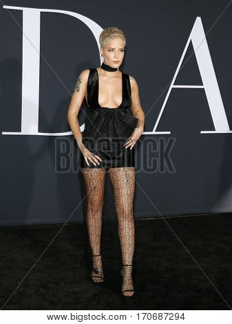 Halsey at the Los Angeles premiere of 'Fifty Shades Darker' held at the Theatre at Ace Hotel in Los Angeles, USA on February 2, 2017.