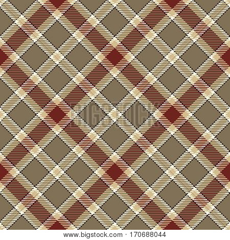 Tartan Seamless Pattern Background. Brown Black Red Gold and White Plaid Tartan Flannel Shirt Patterns. Trendy Tiles Vector Illustration for Wallpapers.