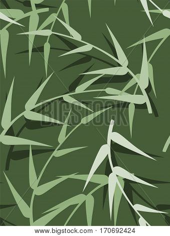 vector seamless green spring background with leaves