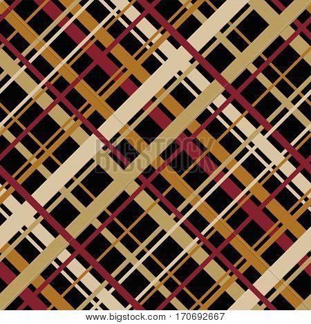 vector abstract seamless geometric pattern with diagonal endless stripes